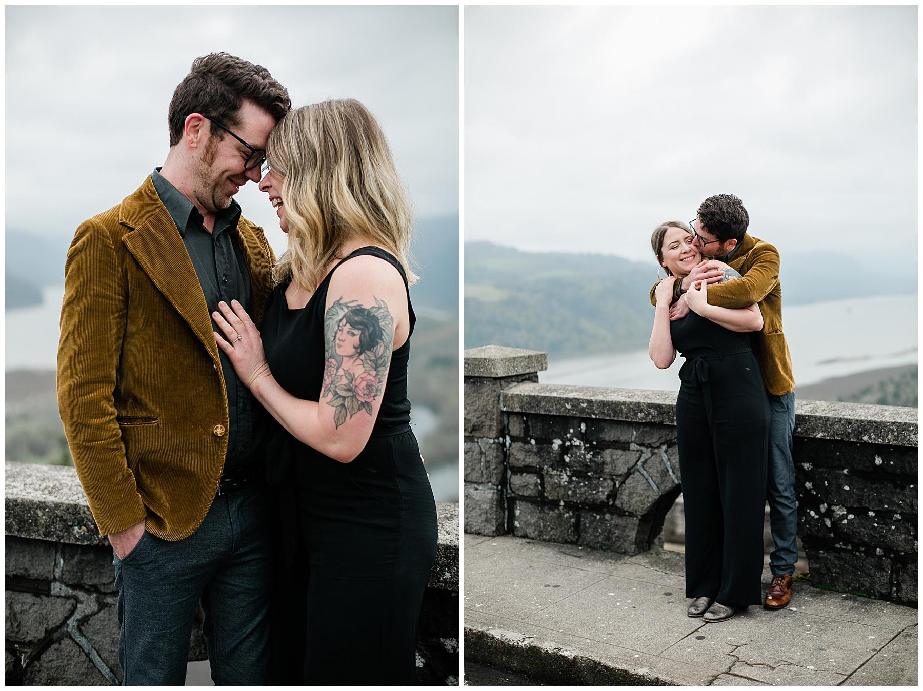 Hana & Pete Fine Art Engagement Session Columbia River Gorge Oregon, Fine Art Wedding Photographer Portland, Oregon